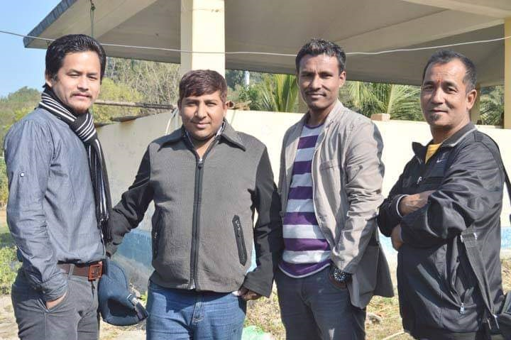 Himal Rai with Chatara Journalist