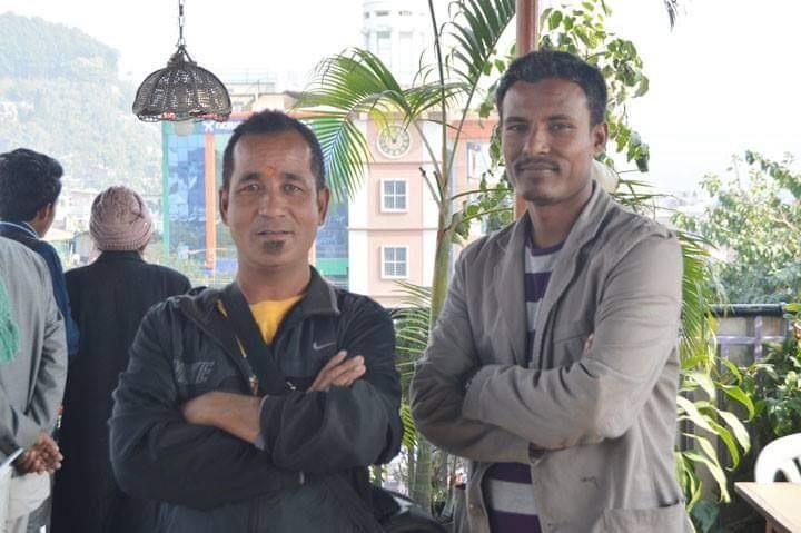 Himal Rai with Gopal Dahal