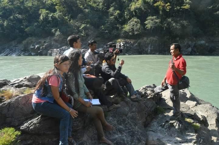 Himal Rai with Journalist 1