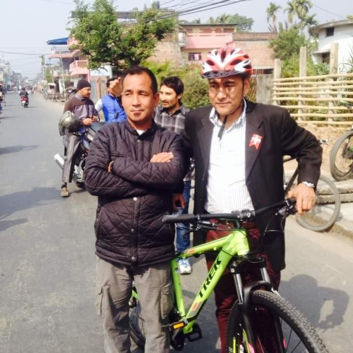 Himal Rai with Pushkar shaha